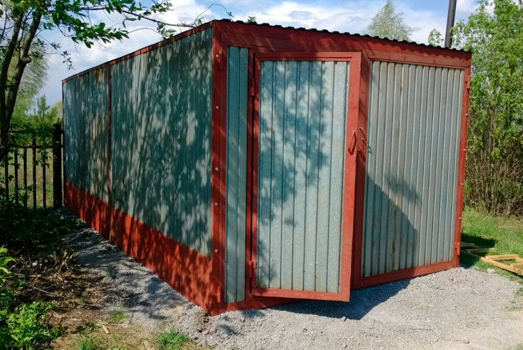 Пенал-гараж нестандартного размера