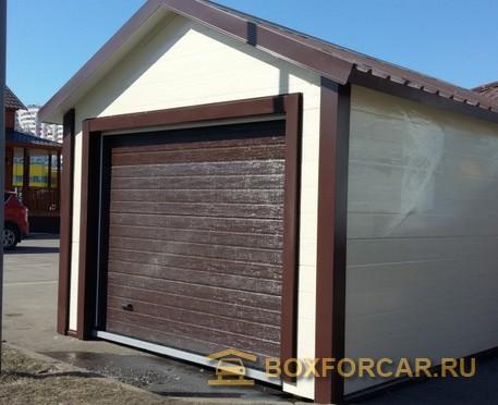 Каркасный гараж пристройка